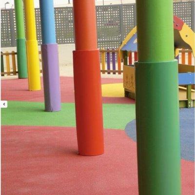 protection pilier cylindrique cours d'école sur mesure